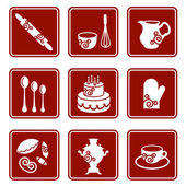 Set of kitchen icons — Stock Vector