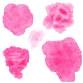 Set of watercolor blobs — Stock Vector