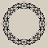 Round vintage frame — Stock Vector