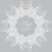 Round lace card — Stock Vector