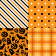 Halloween vector pattern pack — Stockvectorbeeld