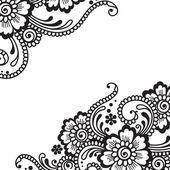 Flower vector ornament — Stock Vector