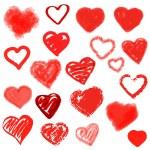 Vector hearts set. Hand drawn. — Stock Vector #39721479