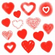 Vector hearts set. Hand drawn. — Stock Vector #39722515