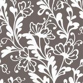 Bezešvé květinový krajkový vzor — Stock vektor