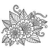 Enfeite de flor — Vetor de Stock