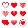 Vector hearts set — Stock Vector #40636333