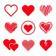 Vector hearts set — Stock Vector #41018569