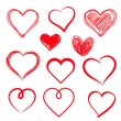 Vector hearts set. Hand drawn. — Stock Vector #41646097