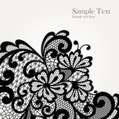 Black vector lace corner — Stockvector