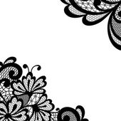 Black vector lace corner — Stock Vector