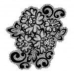 Black vector lace ornament — Stock Vector #44390623