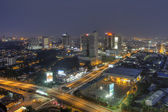Malaysia Southern City view from rooftop — Stock Photo