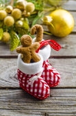 Gingerbread man in the christmas — Stock Photo