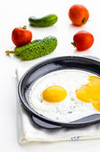 Fried in a cast iron skillet — Stock Photo