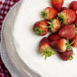 Cake, cream, strawberries, shortcakes, food, sweet — Stock Photo