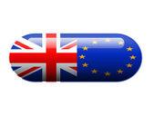 британской и европейской таблетки — Стоковое фото