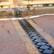 Bridge expansion joint — Stockfoto