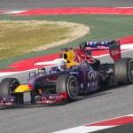 Постер, плакат: Sebastian Vettel Red Bull RB9