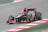 Kimi Raikkonen - Lotus Renault E21 — Stock Photo