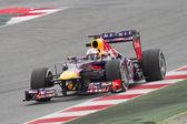 Sebastian Vettel - Red Bull RB9 — Stock Photo