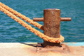 Boat mooring — Stock Photo