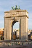 Triumphal arch of Madrid — Stockfoto