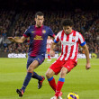 Busquets and Diego Costa — Stock Photo