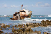Shipwreck in Cape Agulhas — Stock Photo