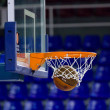 Ball inside the basket net — Stock Photo #24737751