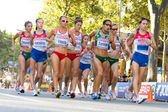 European Athletics - Walk for women — Stock Photo