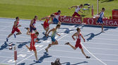 Athletics 100 meters — Stock Photo