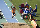 Athletics long jump — Stock Photo