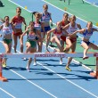 Women athletes at 3000 meter steeplechase — Stock Photo #24750411