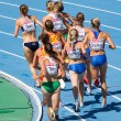 Women athletes at 3000 meter steeplechase — Stock Photo #24750499