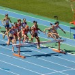 Women athletes at 3000 meter steeplechase — Stock Photo #24752261