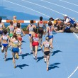 Women athletes at 3000 meter steeplechase — Stock Photo #24752329