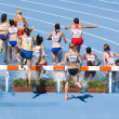 Women athletes at 3000 meter steeplechase — Stock Photo