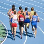 Постер, плакат: 800 m athletics race