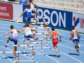 400 meters Hurdles Men — Stock Photo