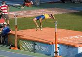 Athletics high jump — Stock Photo