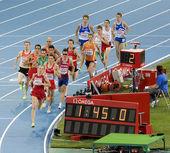 Athletics 1500 meters — Zdjęcie stockowe