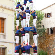 Human tower — Stock Photo