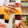 Human tower - Stock Photo