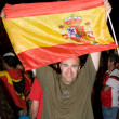 Spanish supporters — Stock Photo