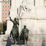 Don Quixote and Sancho Panza statue — Stock Photo #24792537