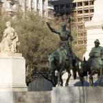 Don Quixote and Sancho Panza statue — Stock Photo #24793069