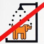 Not washing dog sign — Stock Photo