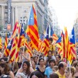 Political rally in Barcelona - Stock Photo