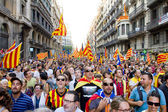 Political rally in Barcelona — Stock Photo